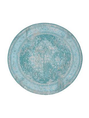 Okrągły dywan szenilowy Palermo, Turkusowy, jasny niebieski, kremowy, Ø 150 cm