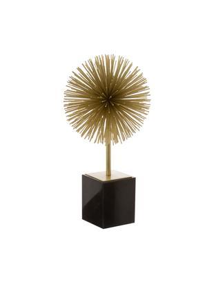 Dekoracja Marball, Nogi: marmur, Nasada: odcienie złotego<br>Nogi: czarny marmur, W 30 cm