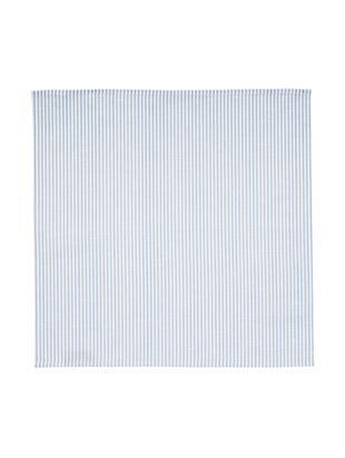 Tovagliette Streifen, 6 pz., Bianco, azzurro, Larg. 45 x Lung. 45 cm