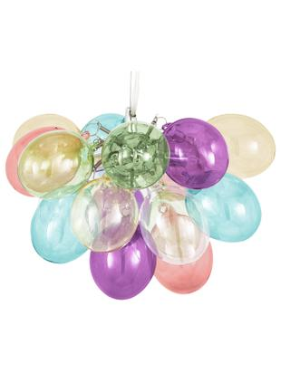 Lampada a sospensione con sfere di vetro Gross, Baldacchino: metallo, rivestito, Multicolore, Ø 30 x Alt. 20 cm