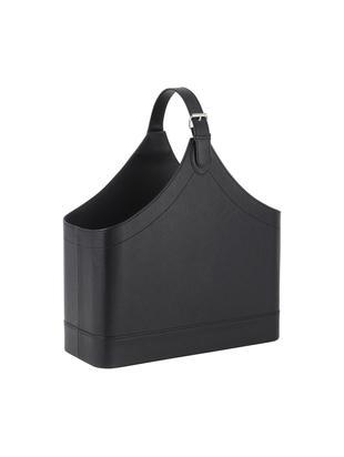 Portariviste Ready, Struttura: cartone, Rivestimento: poliuretano, Poggia riviste: nero Involucro: metallo, L 40 x A 45 cm