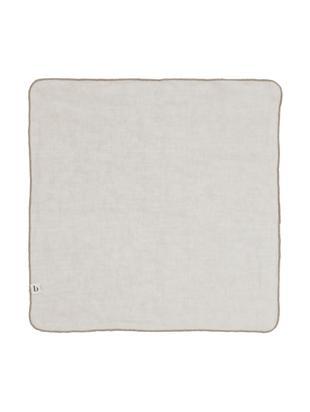 Leinen-Servietten Gracie, 2 Stück, Natur-Leinen, Grau, 45 x 45 cm