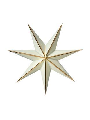 Estrella artesanal Julia, Papel, papel de oro, Salvia, dorado, Ø 60 cm