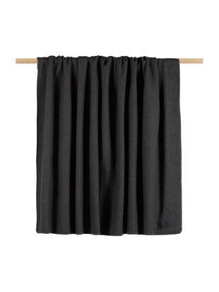 Fleece-Plaid Secret, 70% Polyester, 30% Viskose, Graphitgrau, 160 x 200 cm