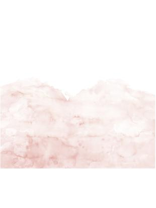 Adesivo murale Pink Clouds, Tessuto non tessuto, Rosa, bianco, Larg. 372 x Lung. 280 cm