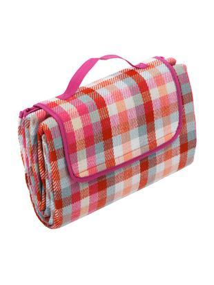 Koc piknikowy Clear, Czerwony, biały, różowy, miętowy, brzoskwiniowy, S 130 x D 170 cm