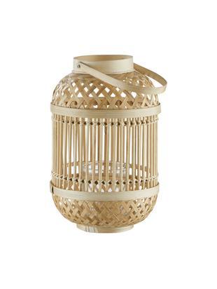 Windlicht Bamboo Nights, Bamboe, Bamboekleurig, Ø 20 x H 30 cm
