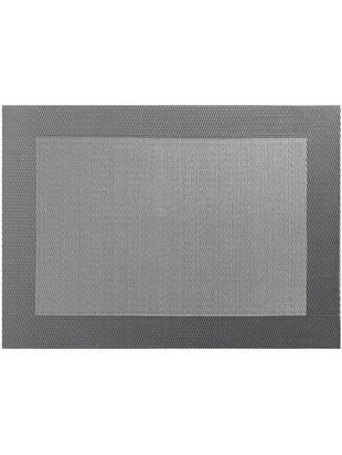 Podkładka  ze sztucznej skóry Trefl, 2 szt., Tworzywo sztuczne (PVC), Odcienie szarego, S 33 x D 46 cm