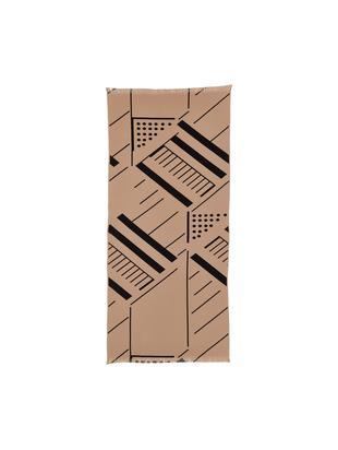 Leichtes Waffelpiqué-Hamamtuch Mawi mit grafischem Muster, Rosa, 86 x 190 cm
