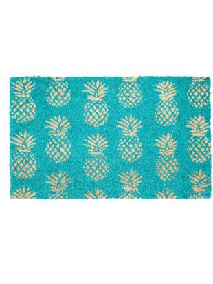 Wycieraczka Pineapples, Włókno kokosowe, Turkusowy, beżowy, S 45 x D 75 cm