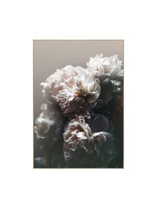 Oprawiony druk cyfrowy Baroque I, Czarny, biały, różowy, S 50 x W 70 cm