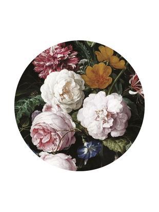 Adesivo murale Golden Age Flowers, Tessuto non tessuto opaco, ecologico e biodegradabile, Multicolore, Ø 190 cm