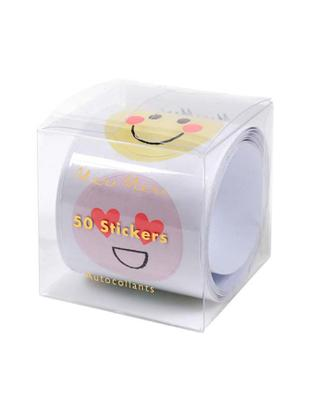 Set adesivi Emoji, Carta, Multicolore, Larg. 7 x Alt. 7 cm