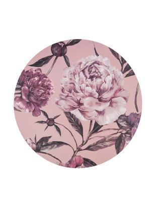 Okrągła podkładka Secret Garden, 2 szt., Odcienie różowego, odcienie zielonego, Ø 38 cm