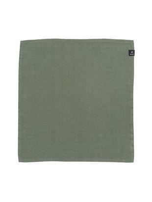 Tovagliolo di lino Sunshine, 4 pz., Lino, Verde, P 45 x L 45 cm