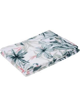 Asciugamano con motivo tropicale Foglia, Cotone, Bianco, multicolore, Asciugamano