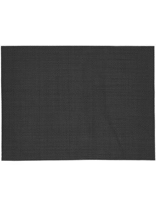 Manteles individuales Mabra, 2uds., Plástico (PVC), Negro, An 30 x L 40 cm