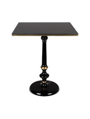 Stół do jadalni z granitu Own The Glow, Blat: granitowy, Czarny, odcienie złotego, S 65 x D 76 cm