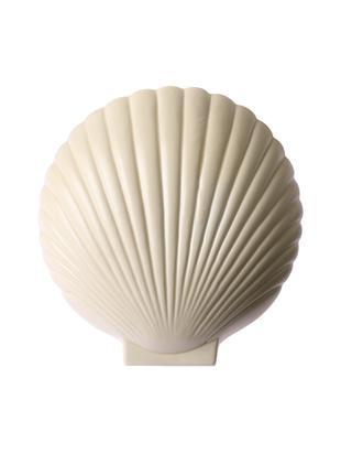 Wandleuchte Shell mit Stecker, Lampenschirm: Steingut, Pastellgelb, 19 x 21 cm