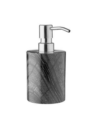 Dosatore di sapone Teren, Marmo, Nero, Ø 8 x Alt. 16 cm