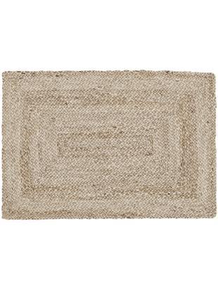 Handgefertigter Jute-Teppich Sharmila, Flor: Jute, Beige, B 60 x L 90 cm (Größe XXS)