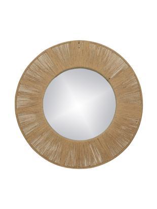 Espejo de pared redondo Finesse, Espejo: espejo de cristal, Marrón, Ø 50 cm