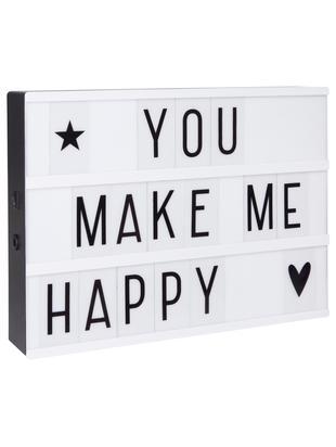 LED Leuchtbox A4, Box: Polyvinylchlorid (PVC), Weiß, Schwarz, 31 x 22 cm