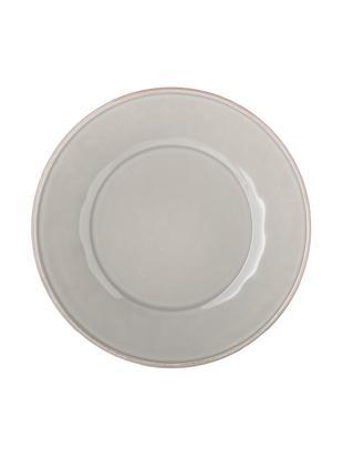 Piatto piano in grigio chiaro Constance 2 pz, Ceramica, Grigio chiaro, Ø 29 cm