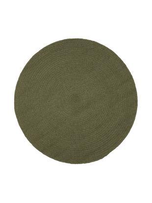 Okrągły dywan z bawełny z recyklingu Moon, Bawełna z recyklingu, Khaki, Ø 90 cm (Rozmiar XS)