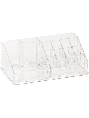 Schmink-Aufbewahrung Clear, Kunststoff, Transparent, 22 x 8 cm