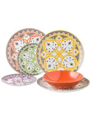 Komplet talerzy Marocco, 18elem., Wielobarwny, Różne rozmiary