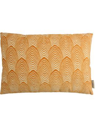 Cuscino a fantasia con imbottitura Lena, Poliestere, Arancio, beige, Larg. 40 x Lung. 60 cm