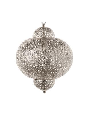 Lampada a sospensione Marocco, Metallo zincato, Nichel, Ø 29 x Alt. 37 cm