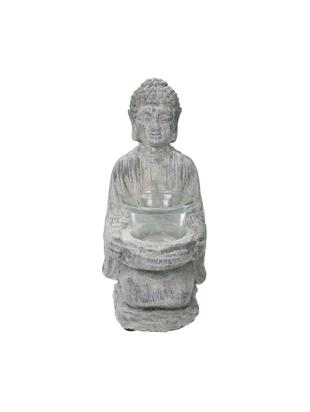 Portavelas Buddha, Figura: cemento, Gris, An 12 x Al 22 cm