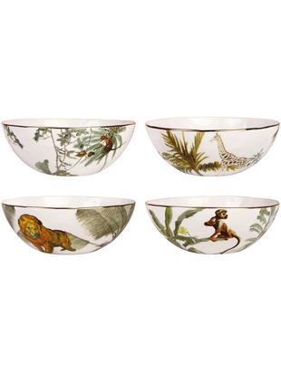 Set ciotole Animaux, 4 pz., Porcellana, Multicolore, Ø 16 x A 5 cm