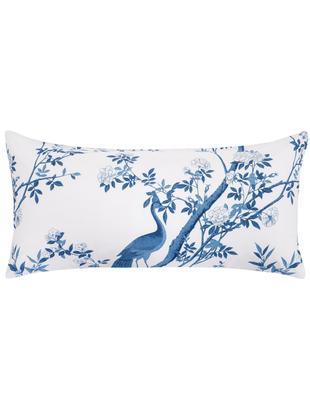 Poszewka na poduszkę z perkalu Annabelle, 2 szt., Niebieski, biały, S 40 x D 80 cm