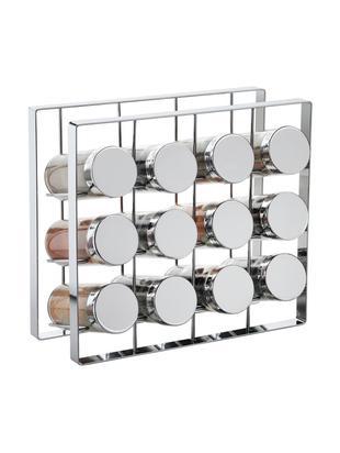 Organizer na przyprawy Spices, 13 elem., Stelaż: metal lakierowany, Odcienie srebrnego, S 24 x W 22 cm