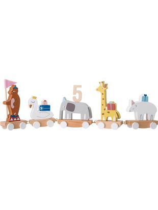 Dekoracja urodzinowa Happy Animals, Drewno bukowe, płyta pilśniowa średniej gęstości (MDF), sklejka,drewno lotosu, metal, filc, Wielobarwny, S 50 x W 16 cm