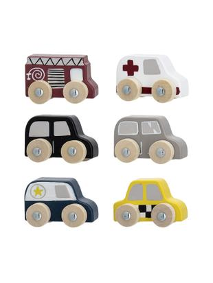Speelgoedwagensset Car, 6-delig, MDF, lotushout, Multicolour, 20 x 23 cm