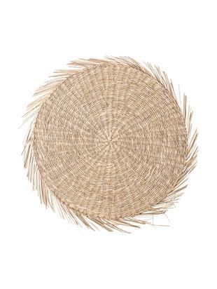 Tovaglietta americana rotonda Whirl, Alghe, Beige, Ø 38 cm