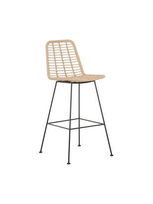 Krzesło barowe Sola, Stelaż: metal malowany proszkowo, Jasny brązowy, S 56 x W 98 cm