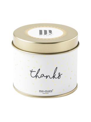 Vela perfumada Thanks (pomelo, pachulí & sandía), Recipiente: metal, recubierto, Dorado, blanco, negro, Ø 8 x Al 7 cm