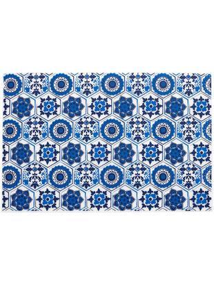 Podkładka z tworzywa sztucznego Fiesta, 4 szt., Tworzywo sztuczne (PVC), Niebieski,mleczny-transparentny, S 30 x D 45 cm