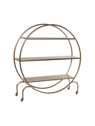 Estantería Standy, Estructura: metal, Estantes: madera, Dorado, An 104 x Al 109 cm