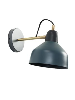Wandleuchte Olimpia, mit Stecker, Lampenschirm: Metall, pulverbeschichtet, Dunkelblau, 19 x 21 cm