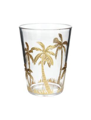 Szklanka do wody z akrylu Kimberly, Akryl, Transparentny, odcienie złotego, Ø 9 x W 12 cm