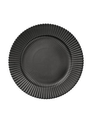Plato llano The Lyngby Plate, Porcelana, Negro, mate, Ø 27 x Al 3 cm