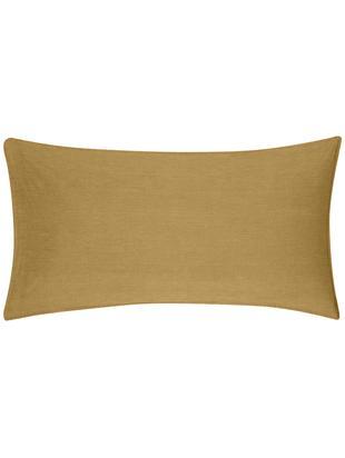 Gewaschene Baumwoll-Kissenbezüge Arlene in Gelb, 2 Stück, Webart: Renforcé, Gelb, 40 x 80 cm