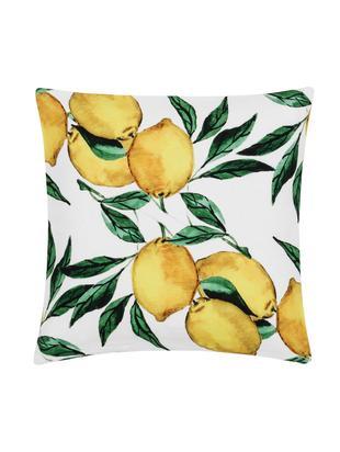Poszewka na poduszkę Citrus, 100% bawełna, Żółty, zielony, biały, S 40 x D 40 cm