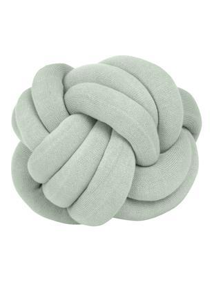 Knoten-Kissen Twist, Mintgrün, Ø 30 cm